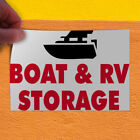Decal Sticker Boat & Rv Storage #1 Business boat Outdoor Store Sign Red