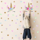 Us Cute Unicorn & Bling Stars Wall Decal Art Stickers Vinyl Home Room Decoration
