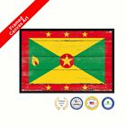 Grenada Shabby Chic Flag Country Framed Canvas Decorative Office Wall Art