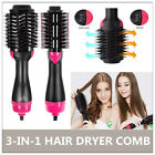 3In1 One Step Hair Dryer and Volumizer Brush Straightening Curling Iron Comb US