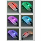 Wired Optical Lights USB PC Computer Laptop Games Gamer Game Gaming Mouse Mice I