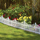 4,8,12 Or 16 White Picket Fencing Garden Lawn Grass Border Edging Driveway Patio