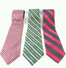 EXPRESS MENS TIE STRIPED MULTI-COLOR,GREEN,RED 100% SILK- New w/Tag