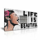 Banksy Life is Beautiful Stretched Canvas ~ More Size