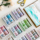 10 rolls/box Cute Washi Tapes Paper Set Blue Sea Floral Leaf Unicorn Mask Tapes