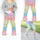 US Toddler Kids Girls Baby Sequin Leggings Pants Trousers Clothes Outfit Bottoms