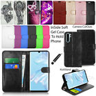 For Huawei P30 Pro Case Wallet Cover Leather Case Flip Book + Screen Protector