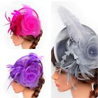 Women's Fascinator Hat Feather Headband Cocktail Wedding Party Headpiece Clip US