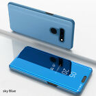 For LG G8 ThinQ Phone Case Luxury Ultra Slim Mirror Flip Stand Shockproof Cover