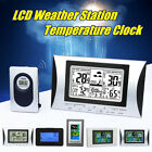 Wireless LCD Weather Station Thermometer Hygrometer  Alarm Clock Indoor Outdoor