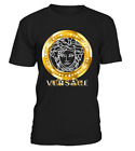 New Versace2019 Famous Gold Logo Luxury T-Shirt Many Color Full Size S-5XL