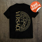 Men's Versace2019 Famous Logo Vintage T-Shirt Black White Size S-5XL 100% Cotton