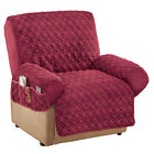 Kyпить Diamond Quilted Stretch Recliner Cover With Storage, by Collections Etc на еВаy.соm