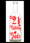 Vinyl Decal/sticker For Wine Bottle Diy Personalised Age Birthday 18 21 30 40 50