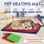 Electric Pet Heating Mat Blanket 7 Gears Heated Cat Dog LED Heater Pad Bed Safe