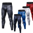 Mens Workout Tights Compression Long Pants Basketball Jogging Slim Fit Trousers