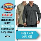 Dickies Work Shirt Flex Men's Button Down Shirt Twill Wrinkle Resistant Dress <br/> LIGHTNING FAST FREE SHIPPING!! 100% Authentic!!