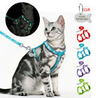 Reflective Escape Proof Cat Walking Harness Lead Set Puppy Personalised ID Tags