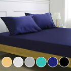 Luxury Satin Silk Deep Pocket Fitted Bed Sheet Mattress Cover Pillowcase Bedding image