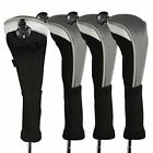 andux 4pcs/Pack Long Neck Golf Hybrid Club Head Covers with Interchangeable No.