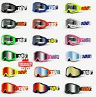 100% STRATA Goggles -ALL COLORS- Offroad MX MTB Motocross CLEAR OR MIRROR LENS