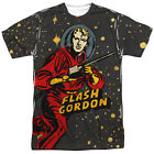FLASH GORDON BLAST OFF FRONT/BACK PRINT MEN T SHIRT
