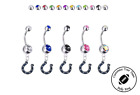 Indianapolis Colts Silver Belly Button Navel Ring - Customize Gem Color - NEW on eBay
