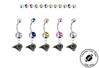 Los Angeles Rams Silver Belly Button Navel Ring - Customize Gem Color - NEW $9.99 USD on eBay