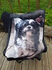 PET MEMORY Personalized VELVETEEN FLEECE Blanket Throw Custom Photo 1 or 2 SIDED image