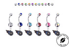 Tennessee Titans Silver Belly Button Navel Ring - Customize Gem Color - NEW on eBay