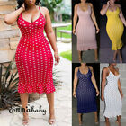 US Women Summer Long Maxi Evening Party Cocktail Beach Dress Sundress Plus Size