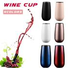 Stainless Steel Vacuum Insulation Wine Glass Mug Goblet Drinking Eggshell Cup