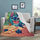 New Custom Lilo and Stitch Ultra-Soft Micro Fleece Soft Bed Throw Blanket image