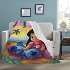 Custom Throw Blanket Lilo and Stitch Ultra-Soft Micro Fleece Throw Blanket image