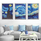 3x Frameless Starry Night Waterproof Canvas Pictures Paint Wall Art Home Decor
