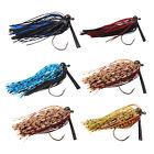 Weedless Jig Silicon Rubber Skirt Bass Jigs for Walleye Trout Perch 1/4oz 3/8oz