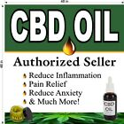 Kyпить CBD OIL AUTHORIZED SELLER (CHOOSE YOUR SIZE) PERF WINDOW VINYL DECAL NEW на еВаy.соm