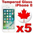 Premium Tempered Glass Screen Protector For iPhone 8 | iPhone 8 PLUS (5 PACK)