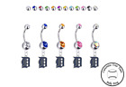 Detroit Tigers Silver Belly Button Navel Ring - Customize Gem Color - NEW on Ebay