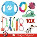 Dog Rope Chew Toys Kit Tough Strong Knot Ball Pet Puppy Cotton Teething Squeaky