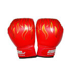 Children Kids FIRE Boxing Gloves Sparring Punching Fight Training Age 3-12 RF