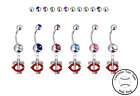 Minnesota Twins Style 2 Silver Belly Button Navel Ring - Customize Gem Color NEW on Ebay