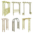 Outdoor Garden Pergola Arbour Impregnated Wood Rose Arch Climbing Plants Archway