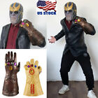 Avengers Infinity War Cosplay Thanos Mask Infinity Gauntlet Thanos Gloves Latex