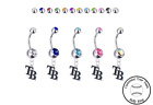 Tampa Bay Rays Style 2 Silver Belly Button Navel Ring - Customize Gem Color NEW on Ebay