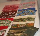 1 PILLOWCASE standard size homemade cotton fabrics animals seasonal W image