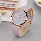 Glitter Sparkling Women's Wrist Watch Rose Gold Leather Bracelet Ladies Gift