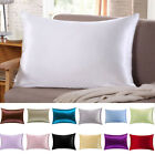 100% Pure Mulberry Silk Pillow Cases Cushion Covers Zipper Closure Queen Natural image