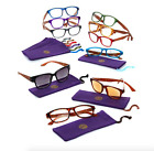 Joy Mangano Shades Readers Glasses with Wood Grain Look Choose Color Power 3.50