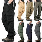 Mens Military Army Combat Trousers Work Cargo Pants Casual Camping Multi Pockets